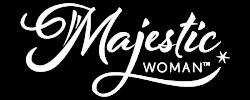 MajesticWoman-logo-white with shadow
